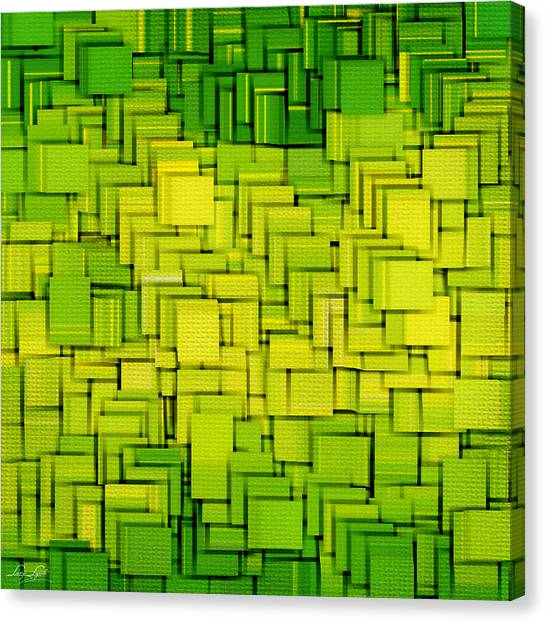 Spinach Canvas Print - Modern Abstract Xxxiii by Lourry Legarde