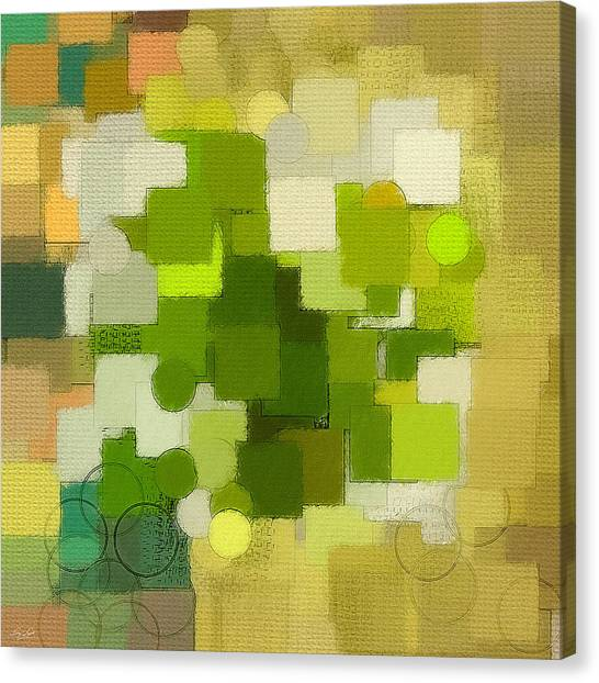 Spinach Canvas Print - Modern Abstract Xxxv by Lourry Legarde
