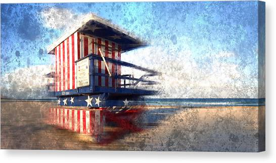 Compose Canvas Print - Modern-art Miami Beach Watchtower by Melanie Viola