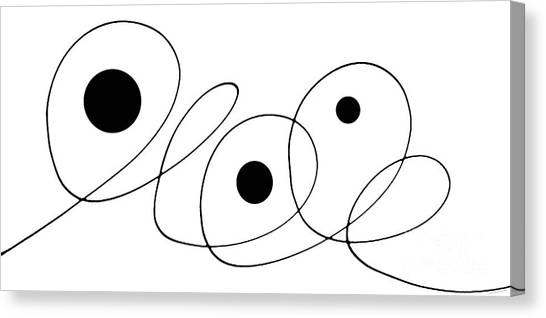 Minimalism Canvas Print - Modern Art - To The Point - By Sharon Cummings by Sharon Cummings
