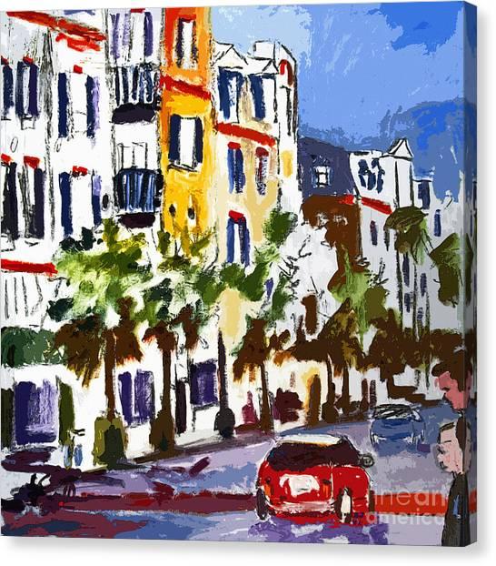 Modern Charleston South Carolina King Street Shopping Canvas Print