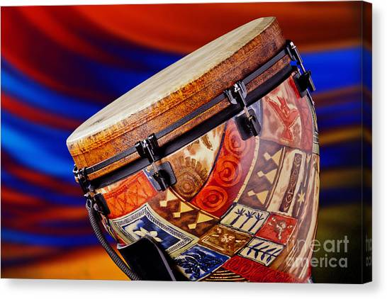 Djembe Canvas Print - Modern Djembe African Drum Photograph In Color 3336.02 by M K  Miller