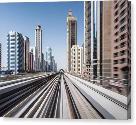 Modern Dubai Canvas Print by Yongyuan Dai