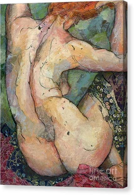 modern female nude figure art - Felicity Canvas Print