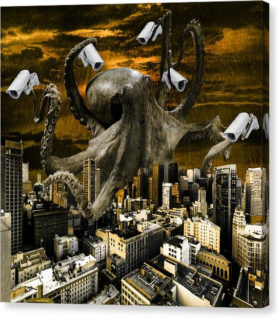 Big Brother Canvas Print - Modern Freedom by Marian Voicu