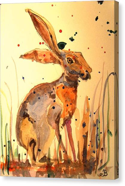 Rabbits Canvas Print - Modern Hare by Juan  Bosco