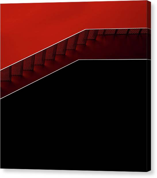 Modern Architecture Canvas Print - Modern Staircase by Gilbert Claes