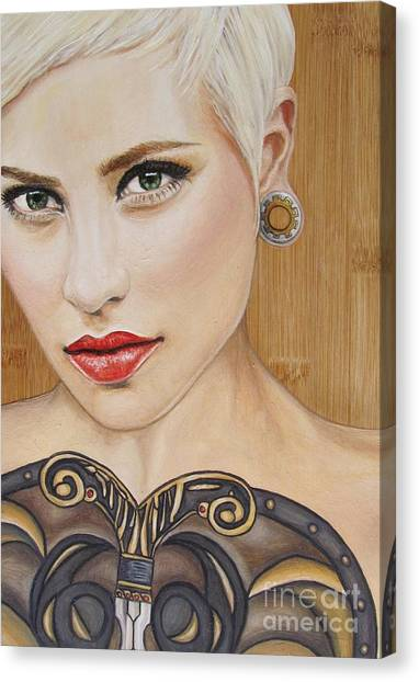 Modern Warrior Beauty Canvas Print