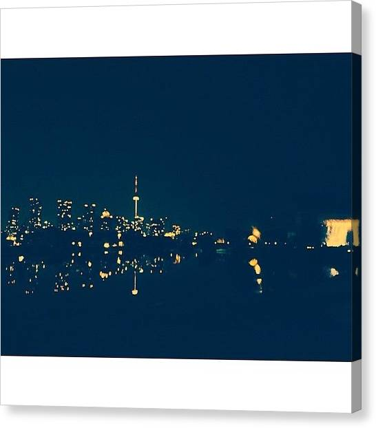 Toronto Skyline Canvas Print - Modest Mouse On The Right, Reflected by Callie Moore