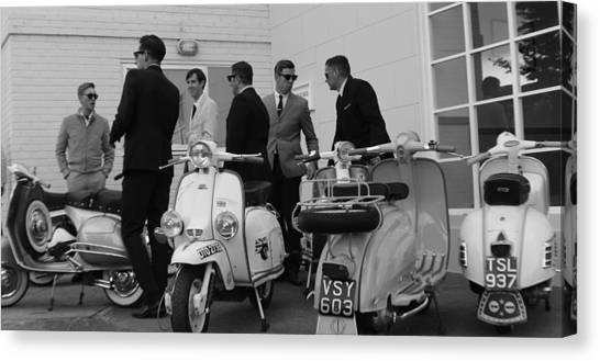 Mods And Suits Canvas Print