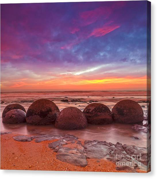 Moeraki Boulders Otago New Zealand Canvas Print