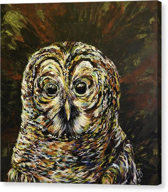 Pigmy Canvas Print - Mogley The Owl by Lovejoy Creations