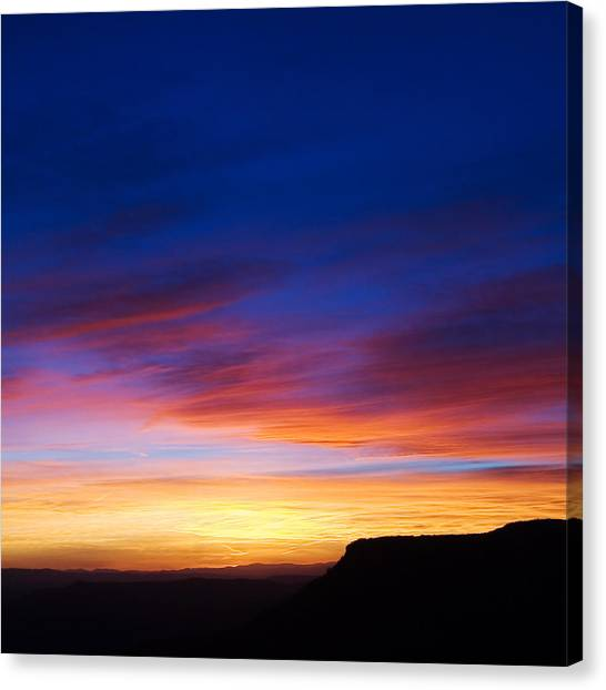 Canvas Print featuring the photograph Mogollon Rim Afterglow by Brad Brizek