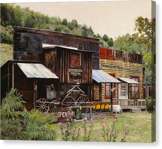 Rusty Canvas Print - Mogollon-theatre-new Mexico  by Guido Borelli