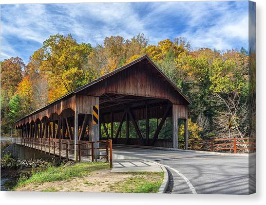 Mohican Covered Bridge Canvas Print