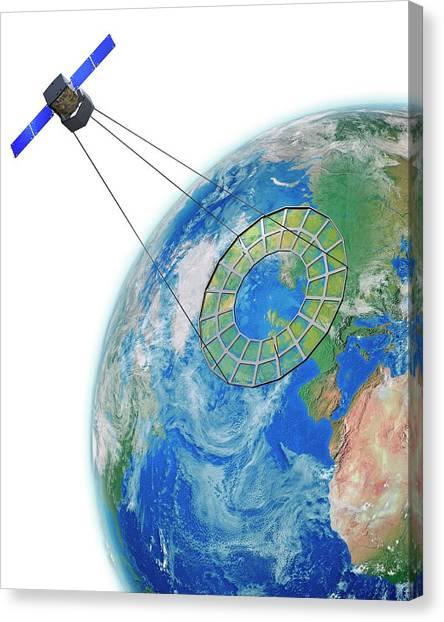 Nato Canvas Print - Moire Spy Satellite by Claus Lunau
