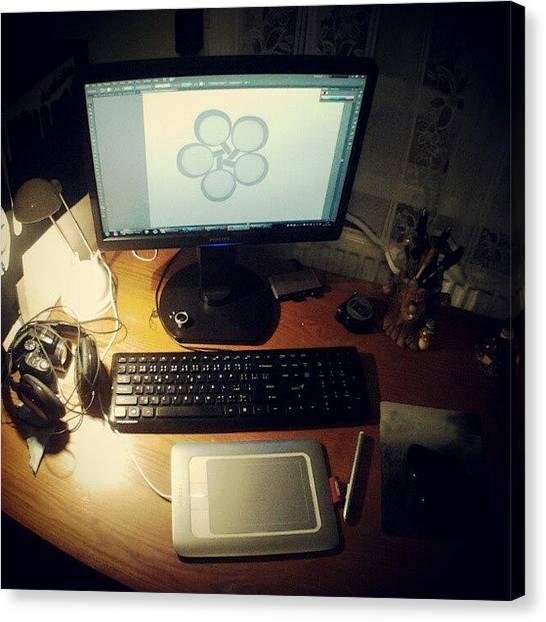 Bamboo Canvas Print - Moj Priestor #desktop #illustrator by Mato Mato