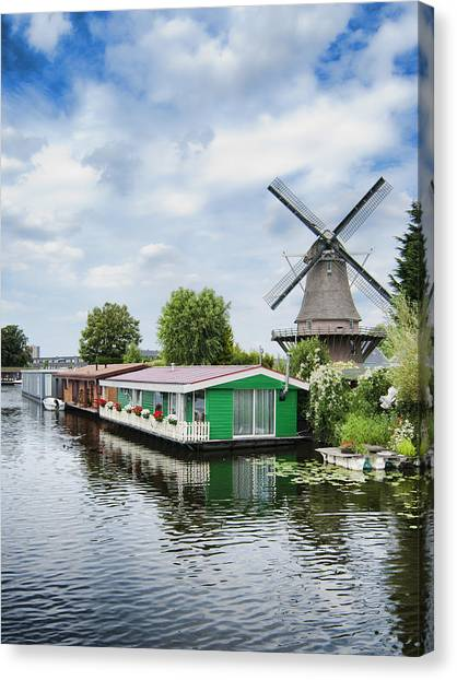 Molen Van Sloten And River Canvas Print