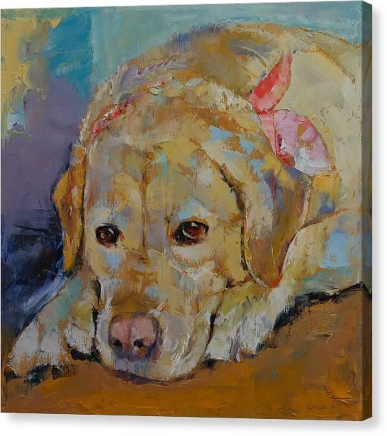 Yellow Lab Canvas Print - Yellow Labrador Retriever by Michael Creese