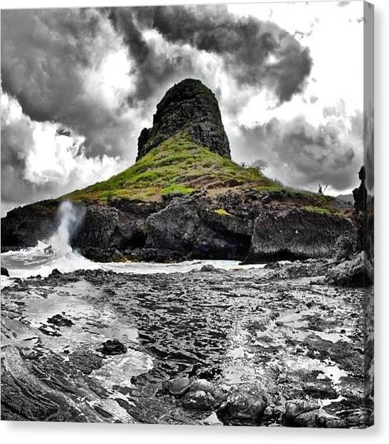 Hawaii Canvas Print - Moloi'i Island #kualoa #oahu #hawaii by Brian Governale