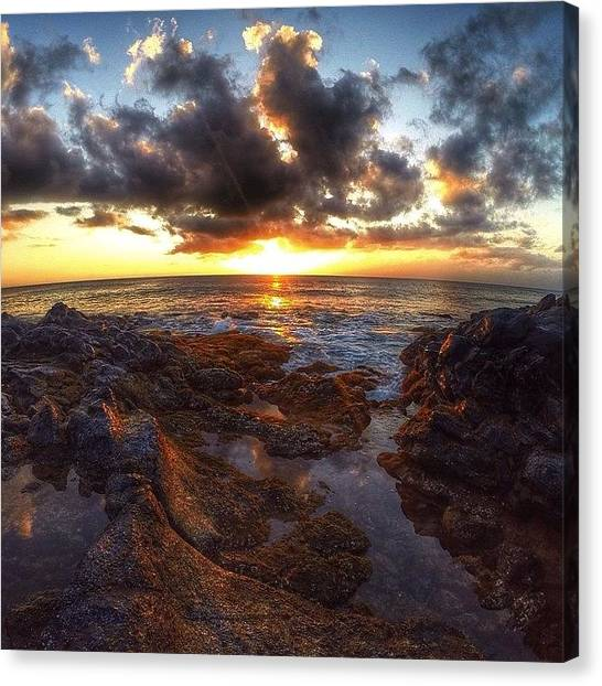 Hawaii Canvas Print - Molokai Sunset by Brian Governale