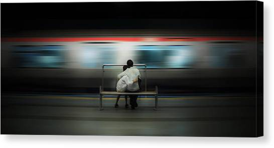 London Tube Canvas Print - Mom!  Do Not Leave Me... by Ademhabibe