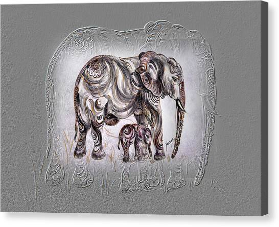 Mom Elephant Canvas Print