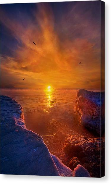 Ice Caves Canvas Print - Moments Of Discovery by Phil Koch