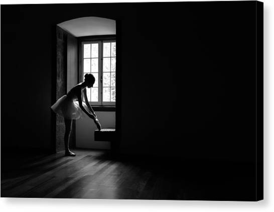 Ballet Shoes Canvas Print - Moments by Paulo Medeiros
