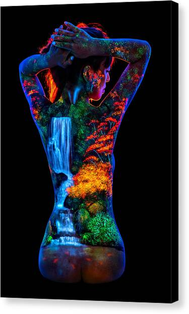 bd7922b4509 Canvas Print featuring the painting Momiji by John Poppleton