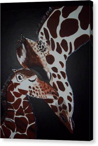 Momma And Baby Canvas Print by Donna Bird