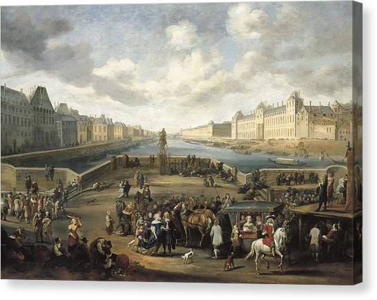 Le Louvre Canvas Print - Mommers, Hendrick 1623-1693. The Louvre by Everett