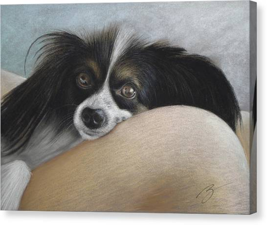Mommie's Lap - Pastel Canvas Print