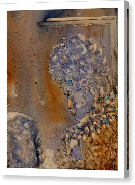 Mommy It's Cold Canvas Print