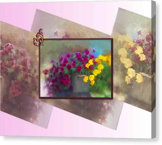 Moms Garden Art Canvas Print