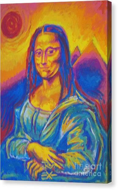 Mona Canvas Print by Jedidiah Morley