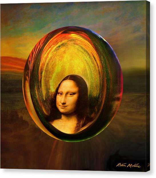 Old World Canvas Print - Mona Lisa Circondata by Robin Moline