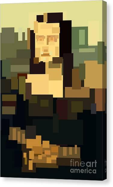 Suprematism Canvas Print - Mona Lisa Simplified by Igor Kislev