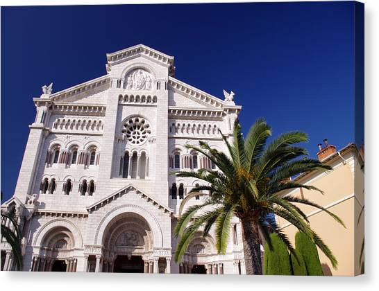 Monaco Cathedral Canvas Print by Ioan Panaite