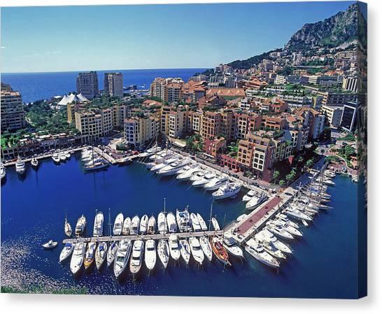 Monaco, La Condamine Canvas Print by Hans-peter Merten