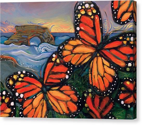 Monarch Butterflies At Natural Bridges Canvas Print