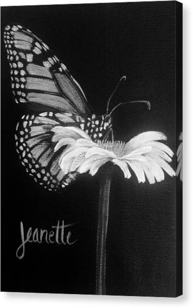 Monarch On A Daisy Canvas Print