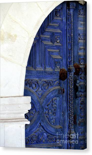 Byzantine Canvas Print - Monastery Door by John Rizzuto