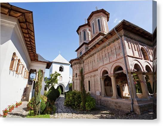 Byzantine Art Canvas Print - Monastery Manastirea Dintr-un Lemn by Martin Zwick