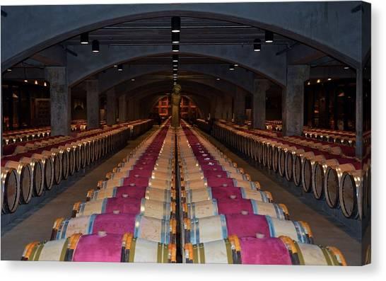 Mondavi Wine Cellar  Canvas Print