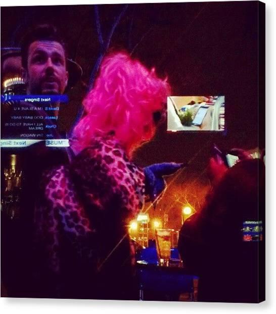 Vegetarian Canvas Print - Monday Night #karaoke #drinks #puppets by Quintin Ellis Jr