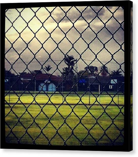 Karate Canvas Print - #mondays #fenced #feelings #blue #green by Ragenangel -s