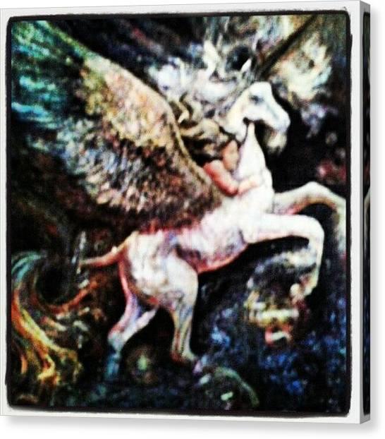 Pegasus Canvas Print - #mondays #imagination #wishes by Ragenangel -s