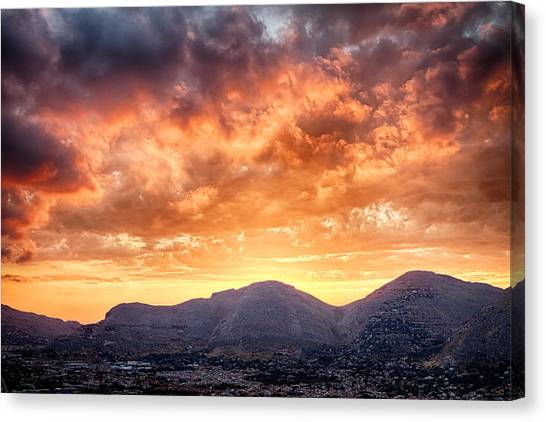 Mondello Sunset Canvas Print by Viacheslav Savitskiy