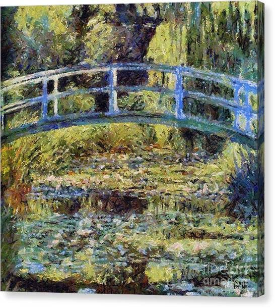 Monet's Bridge Canvas Print